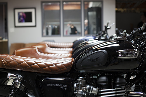 triumph motorcycle seats, british customs